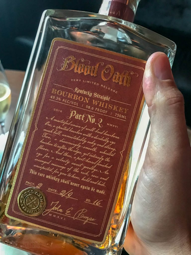 Blood Oath Pact No 2 Bourbon Bottle