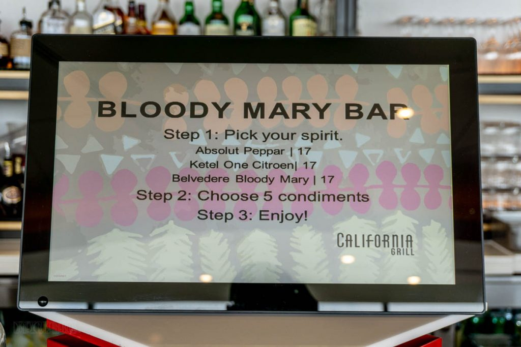 California Grill Brunch Bloody Mary Bar