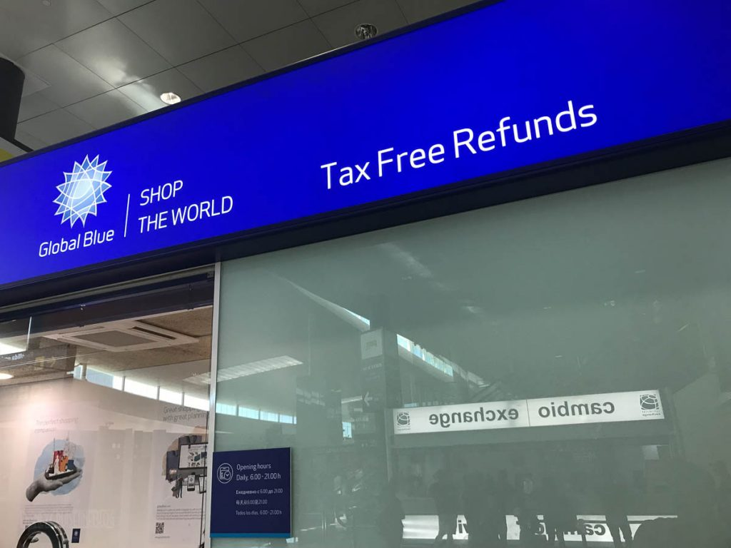 European Union VAT Refund Window Barcelona