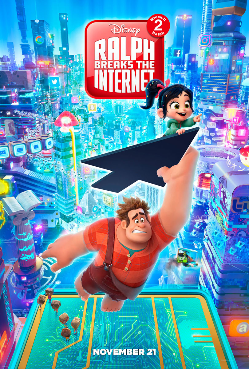 Ralph Breaks The Internet Wreck It Ralph 2 Movie Poster