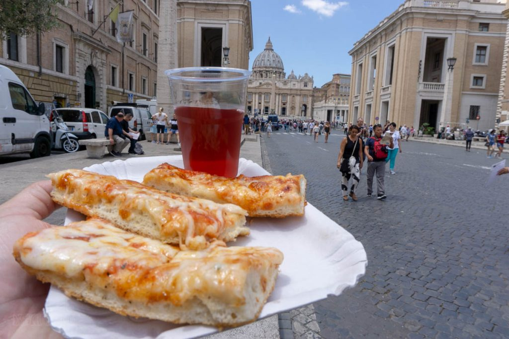 Vatican City Pizza Wine