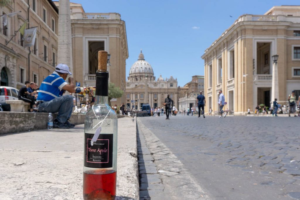 Vatican City Wine Bottle