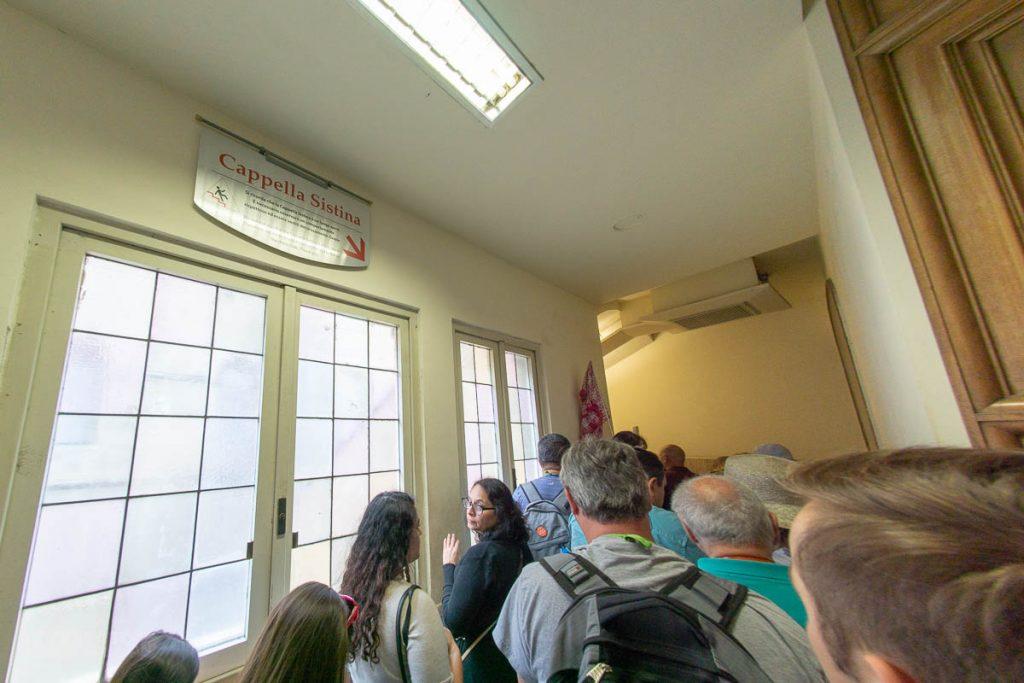 Vatican Sistine Chapel Entrance Cooridor