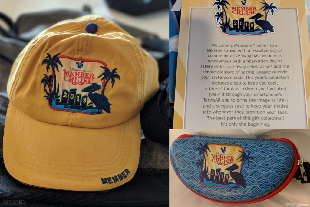 DVC Members Cruise Dream 2018 Merchandise Hat Sunglass Case