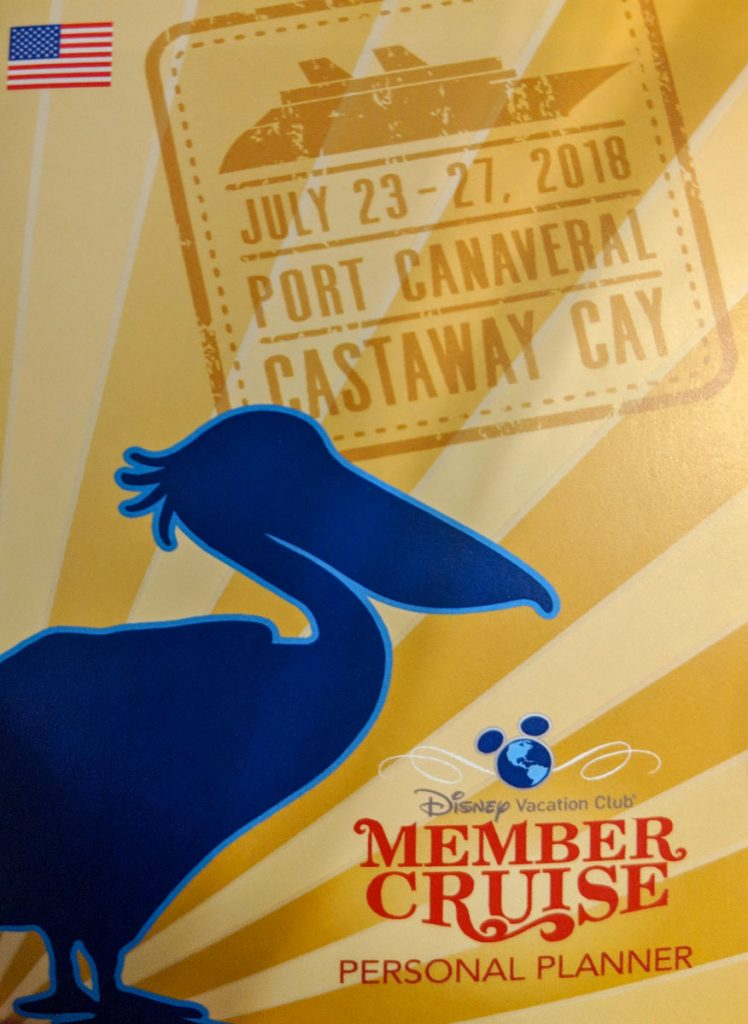DVC Members Cruise Dream 2018 Personal Planner
