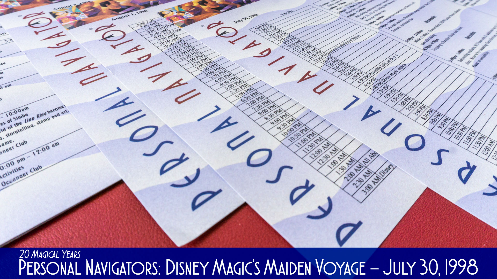 Disney Magic Maiden Voyage Personal Navigators