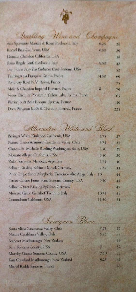 Main Dining Room Wine Menu The Disney Cruise Line Blog