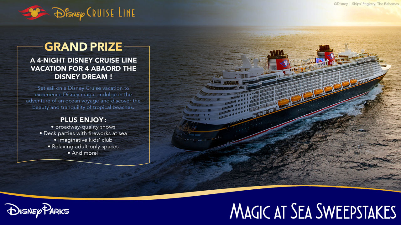 Disney Parks Magic At Sea Sweepstakes