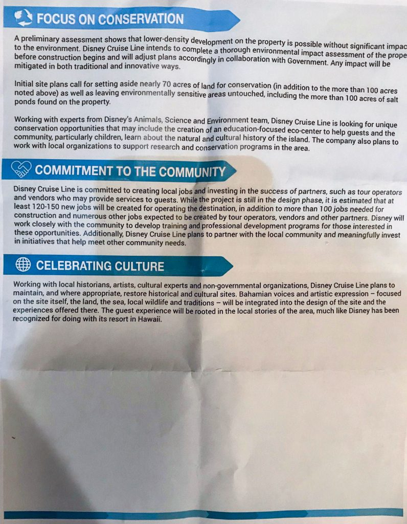 Lighthouse Point Town Hall Handout Back August 2018