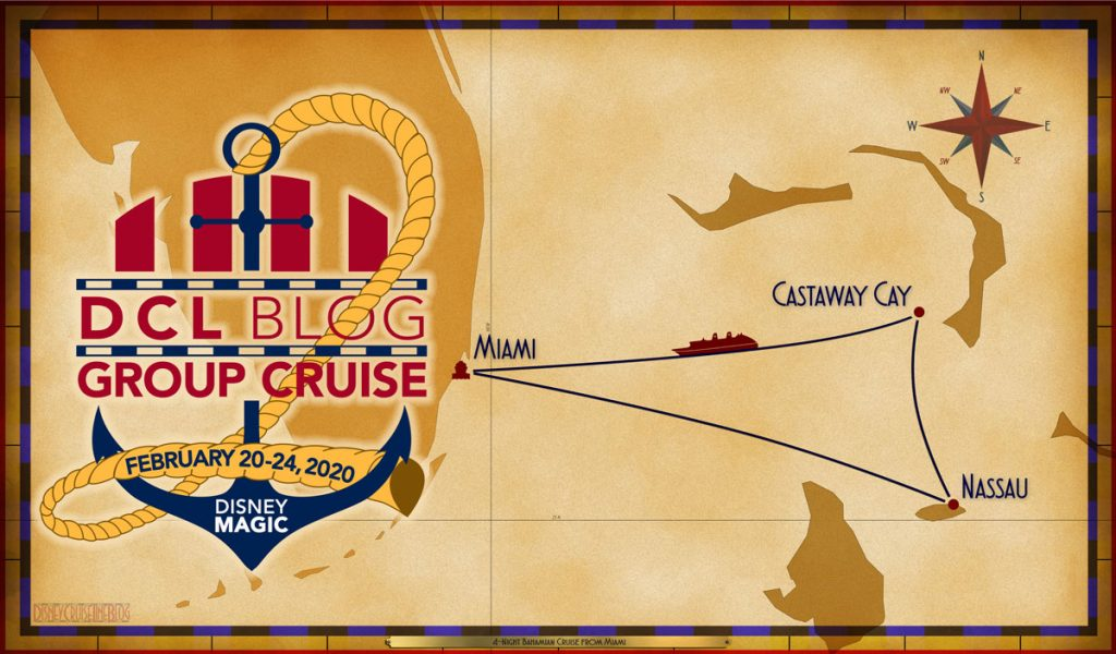 DCL Blog Cruise II 2020 Itinerary Map