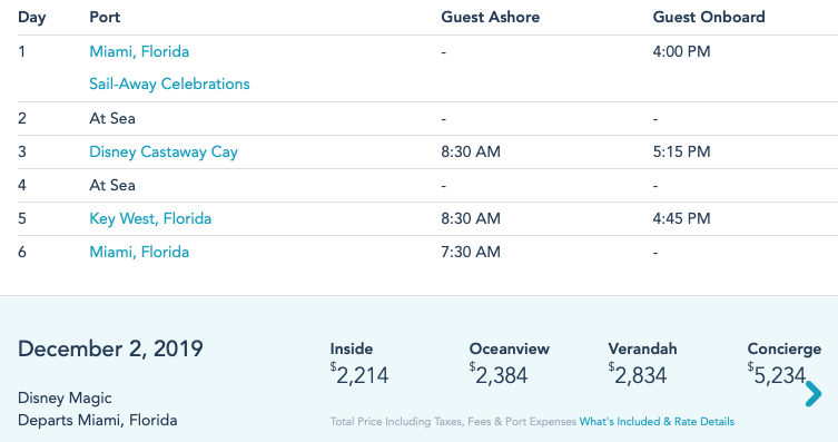 DCL Magic 20191202 Itinerary