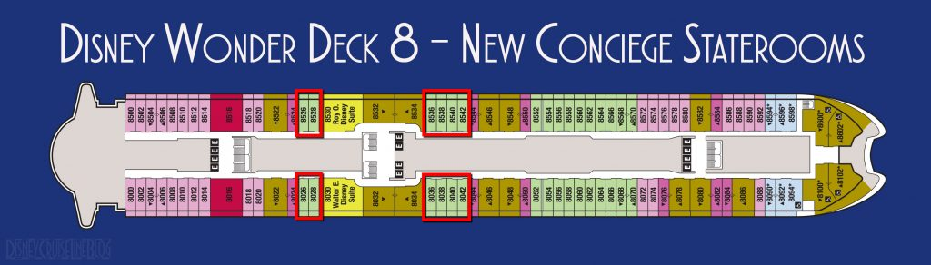 Disney Wonder New Deck 8 Concierge Staterooms 2018