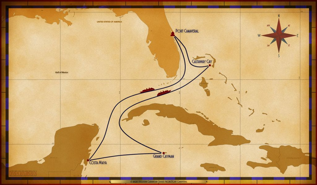 Map Fantasy 6 Night Western Caribbean PCV SEA CTM GEC SEA GOC