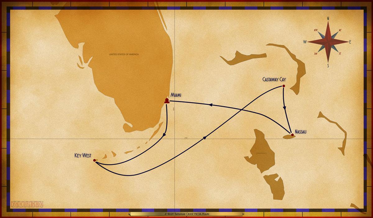 Map Magic 4 Night Bahamian MIA EYW GOC NAS