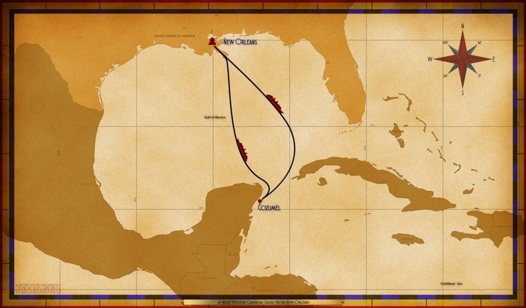 Map Wonder 4 Night Western Caribbean MSY SEA CZM SEA