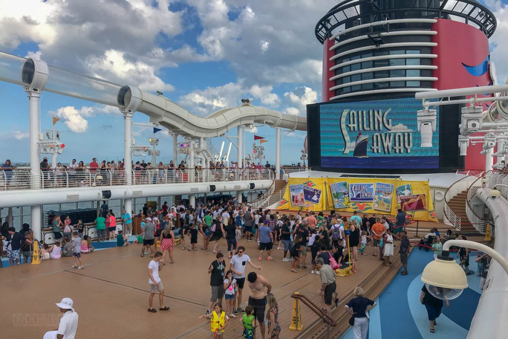 Disney Dream Sailing Away Deck Party