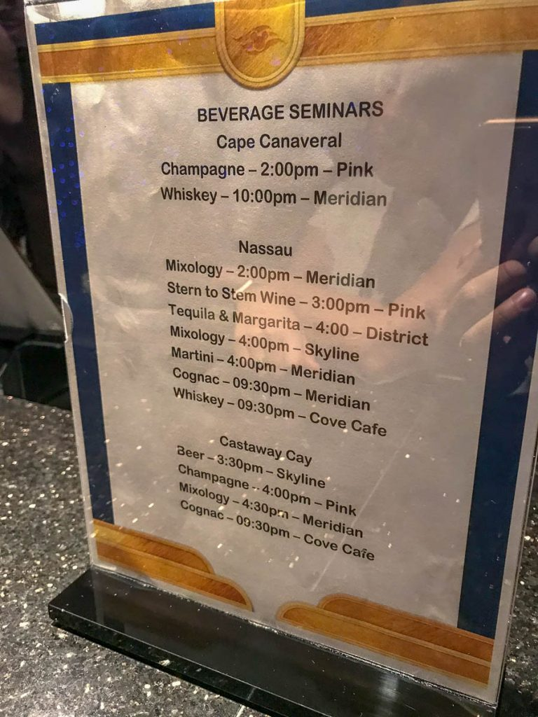 Dream 3N Beverage Seminar Schedule