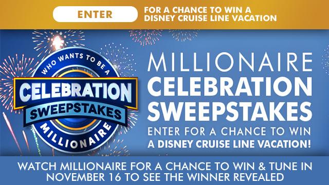 Millionaire Celebration Sweepstakes 2018