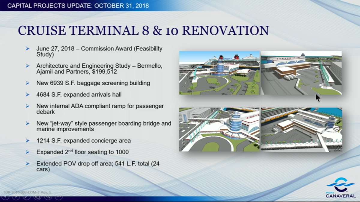 Port Canaveral CT8 CT10 Renovation Renderings October 2018