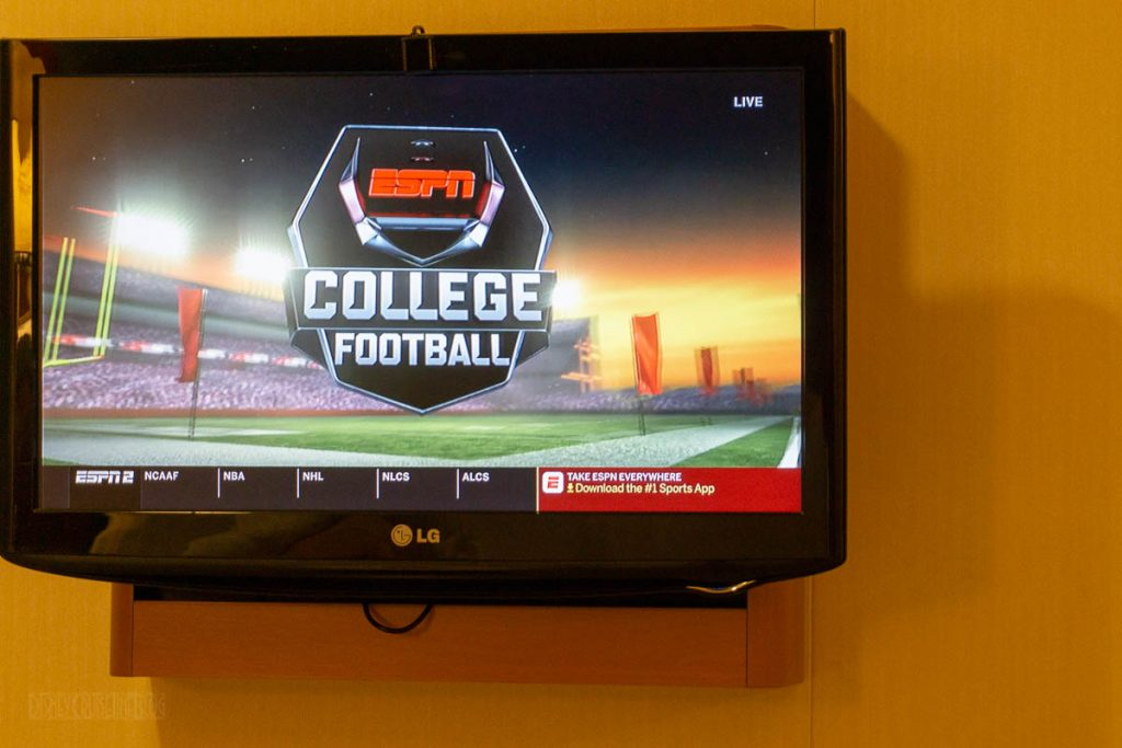 Stateroom TV ESPN College Football