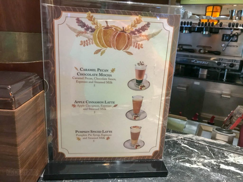 Vista Cafe Fall Specialty Coffees
