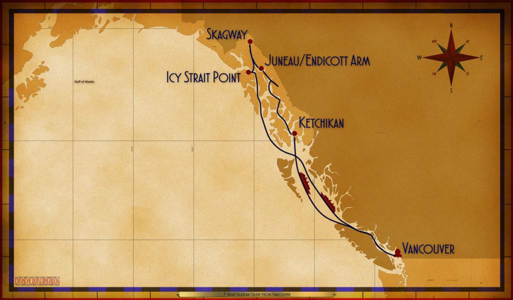 Map Wonder 7 Night Alaskan VAN SEA ISP SGY JNUDAW KTN SEA