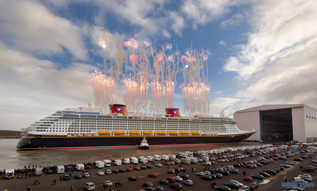 Meyer Werft Shipyard Papenburg Disney Fantasy Float Out