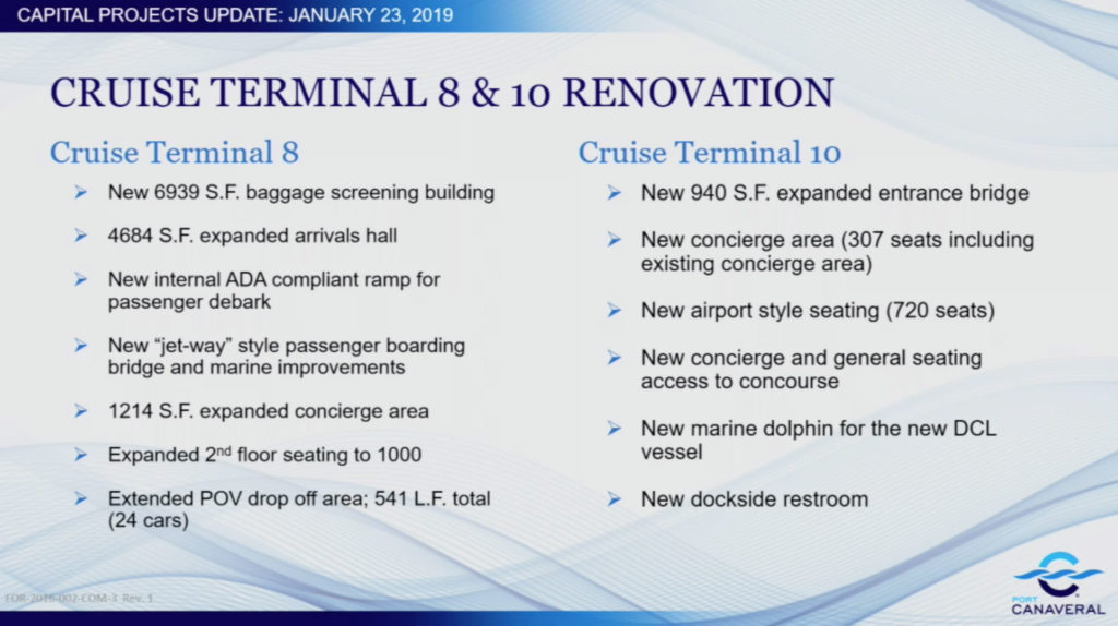 Port Canaveral Capital Update CT8 CT10 20190123