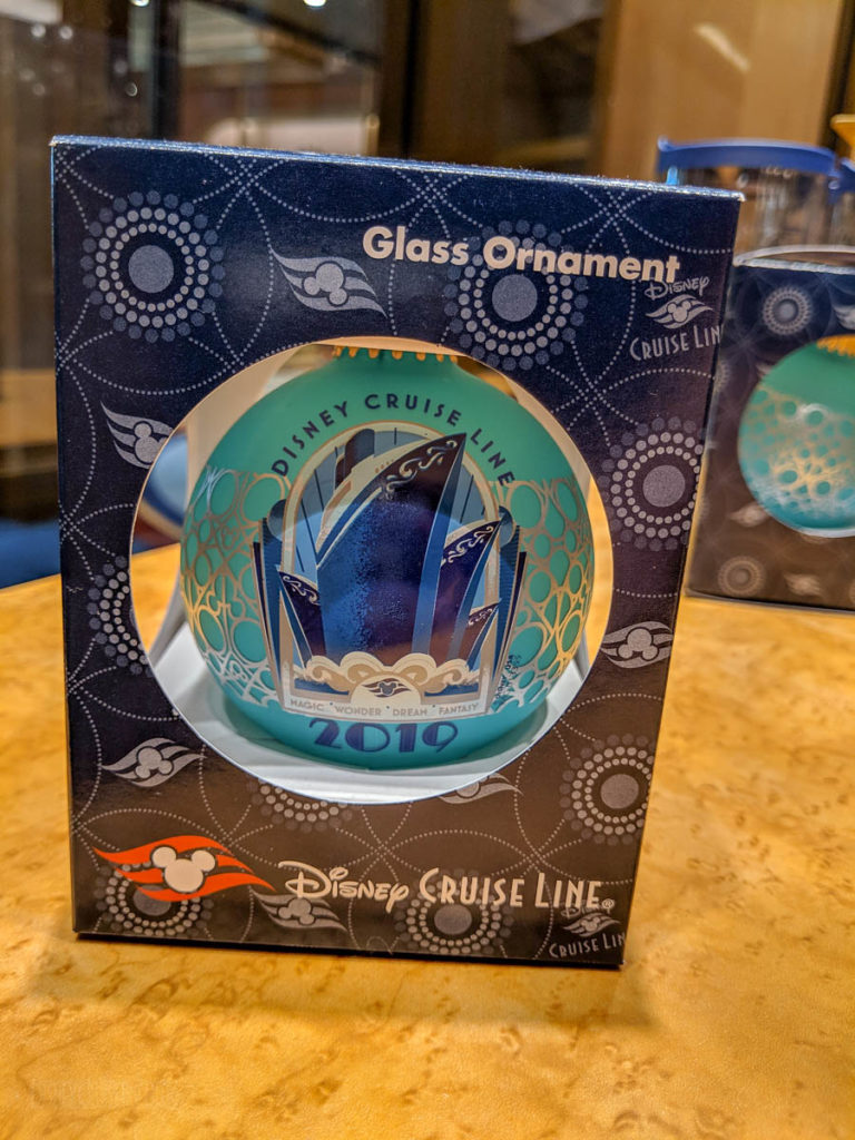 DCL 2019 Merchandise Glass Ornament Front