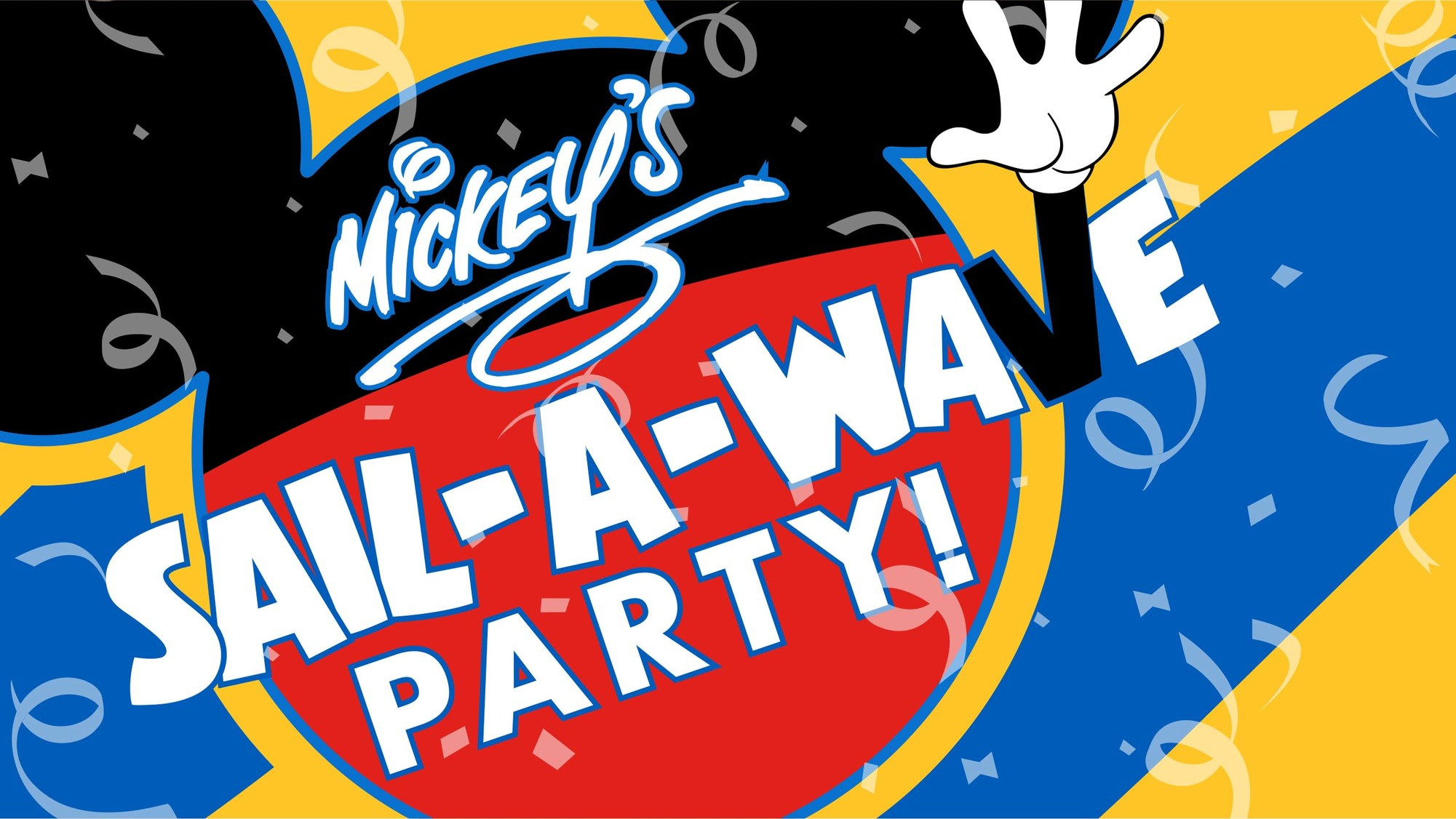 Mickey's Sail A Wave Deck Party Logo