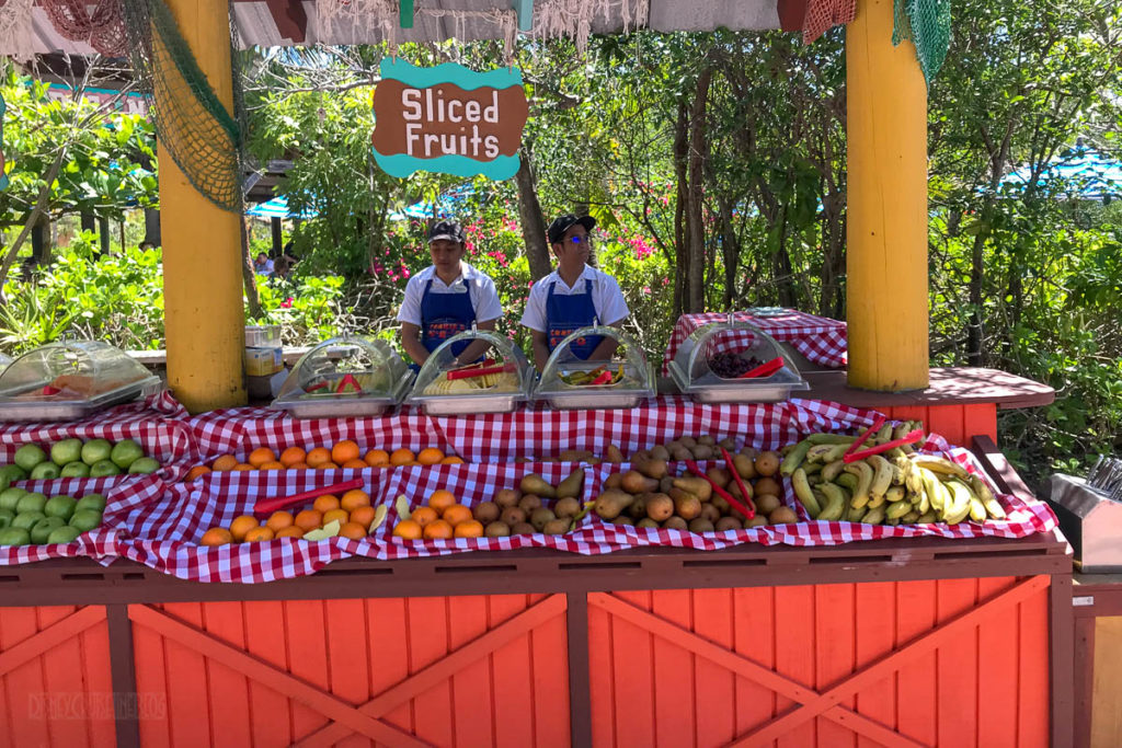 Castaway Cay Cookie's BBQ Sliced Fruits