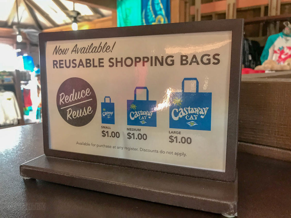 Castaway Cay Reuable Shopping Bag Prices