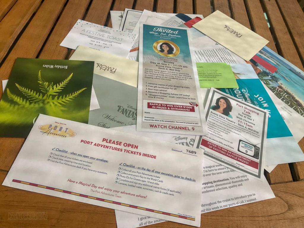 Disney Cruise Line Paper Handouts