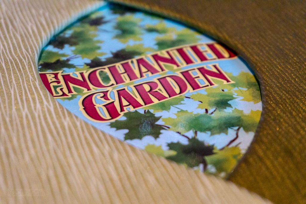 Enchanted Garden Menu Cover
