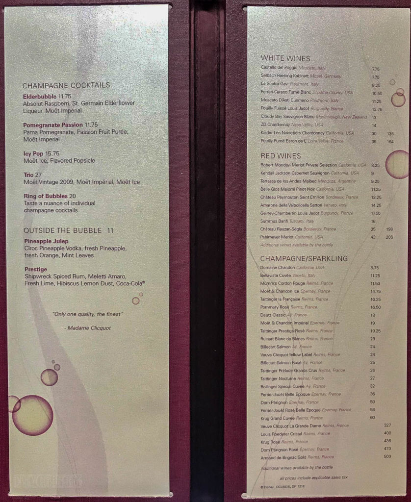 Fantasy Ooh La La Menu March 2019