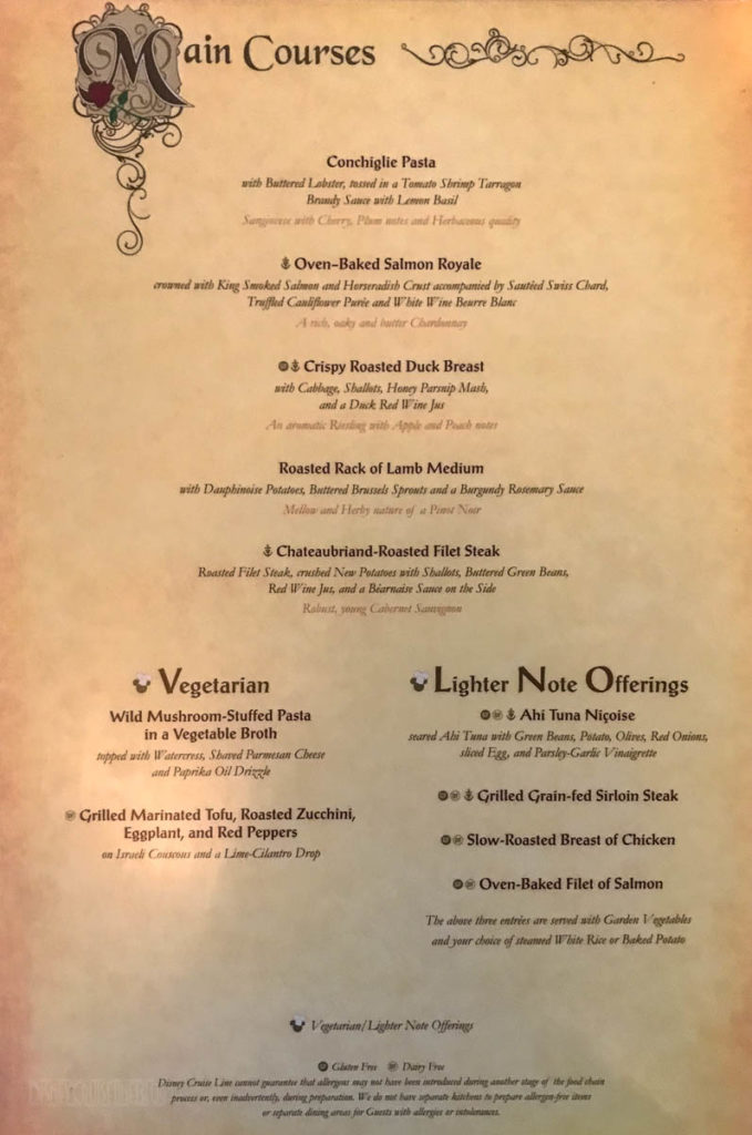Fantasy Royal Court Menu B March 2019