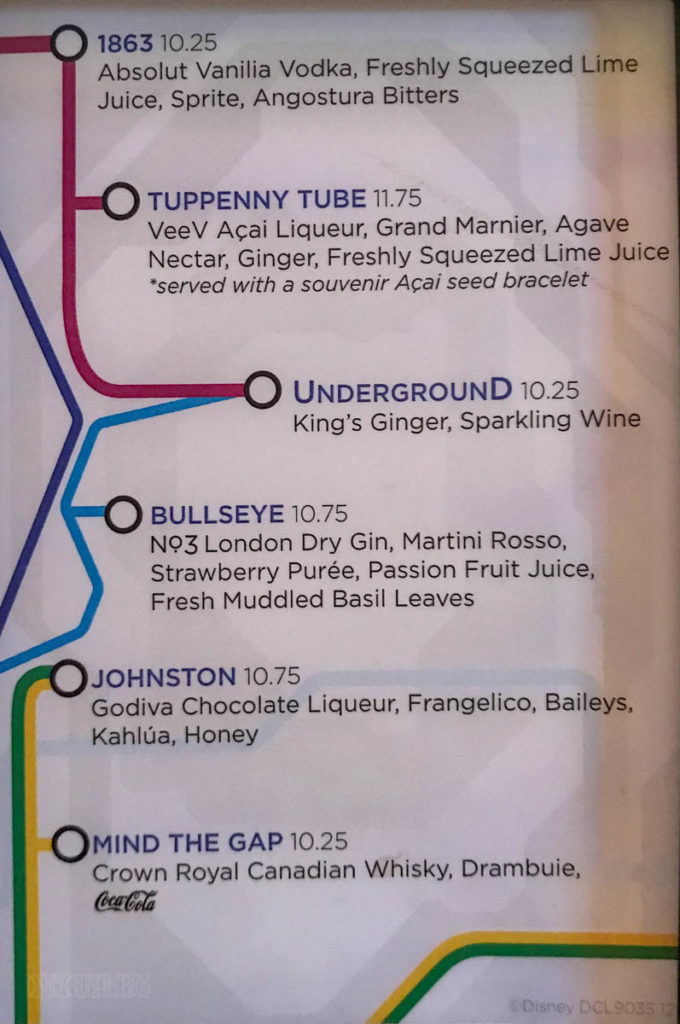 Fantasy The Tube Menu March 2019