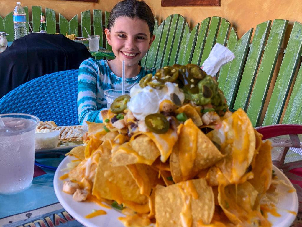 Margaritaville Grand Cayman Chicken Volcano Nachos