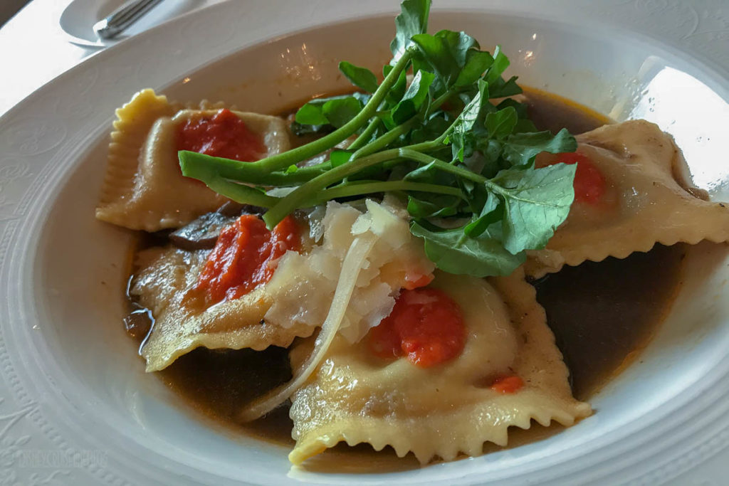 Royal Court Wild Mushroom Stuffed Pasta In Vegetable Broth