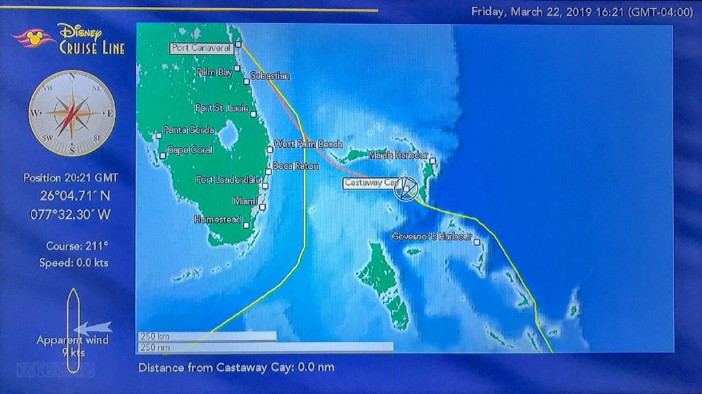 Stateroom TV Map Fantasy Day 7 Castaway Cay 20190322