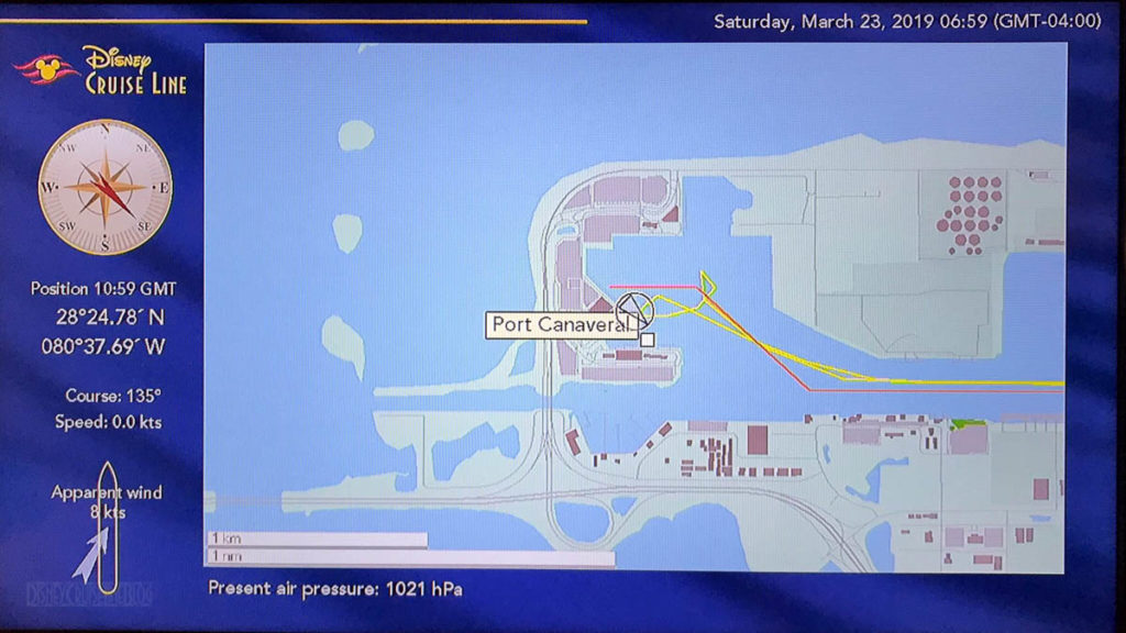 Stateroom TV Map Fantasy Day 8 Port Canaveral 20190323