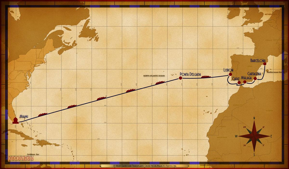 Map Magic 13 Night Transatlantic MIA SEA SEA SEA SEA SEA SEA PDG SEA LIS CAD AGP CRT BCN