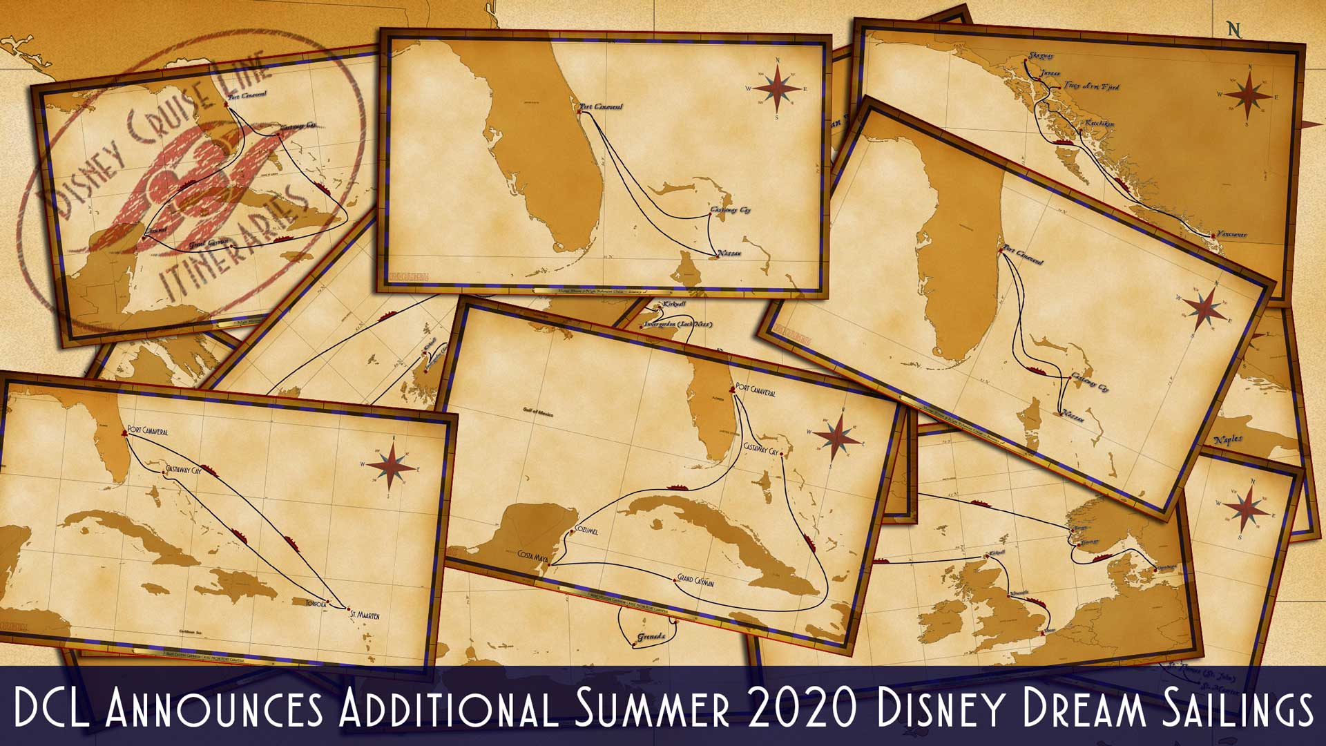 DCL Itinerary Release Summer 2020 Disney Dream Additional Sailings