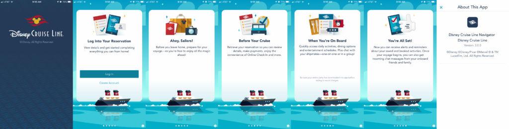 DCL Navigator App 3 Launch Screens
