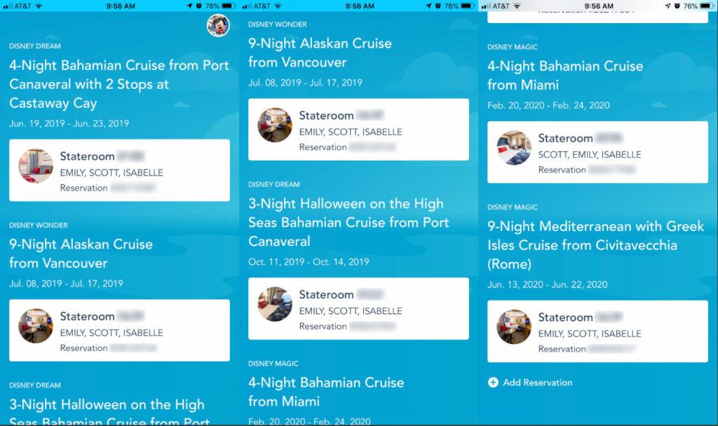 DCL Navigator App 3 Reservations