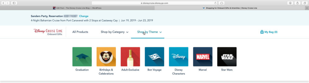 DCL Onboard Gifts Amenities Product Themes