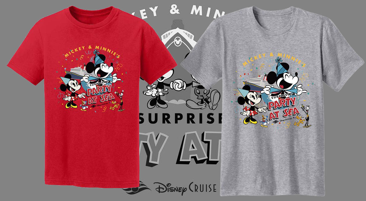 Mickey Minnie Surprise Party At Sea Shirts