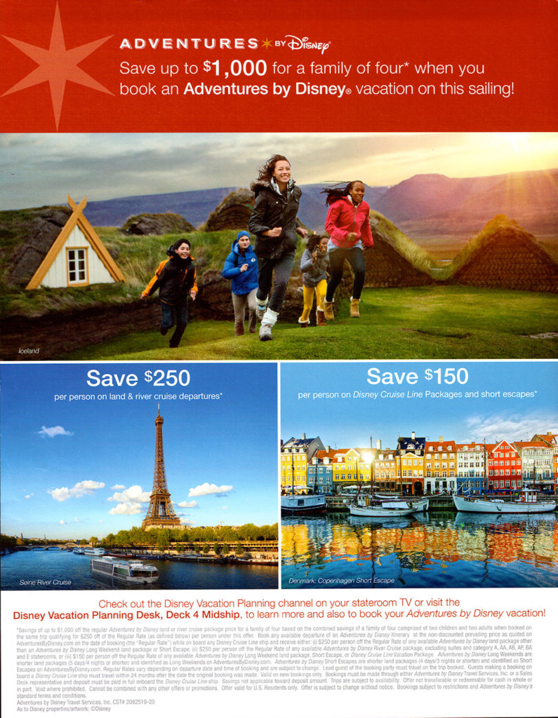 Adventures By Disney Onboard Promotion Dream June 2019 2