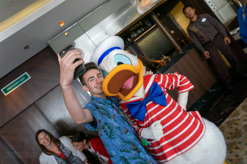 DCL Blog Group Cruise Reception Donald Meet & Greet