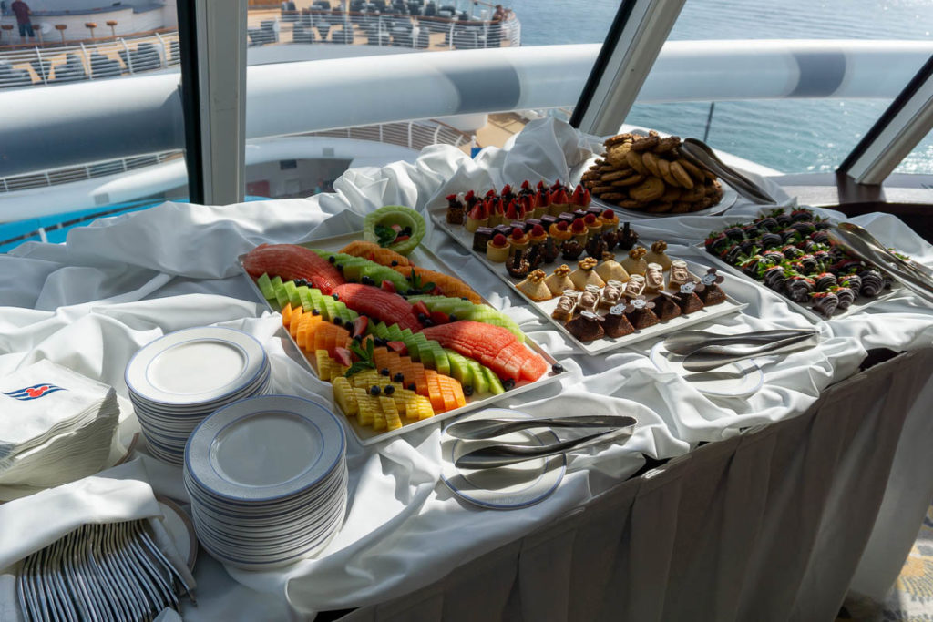 DCL Blog Group Cruise Reception Snacks